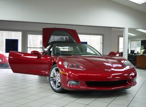 2008 Chevrolet Corvette Crystal Red Metallic Front Open View
