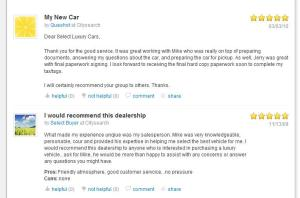 CitySearch customer reviews for Select Luxury Cars