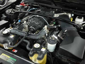 2008 Ford Mustang Shelby GT500 Convertible engine closeup