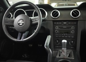 2008 Ford Mustang Shelby GT500 Convertible steering wheel and dash view