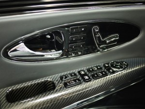 2006 Maybach 57S Driver Interior Door Controls Closeup View